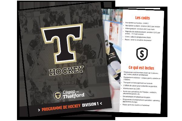 Image de la brochure de hockey